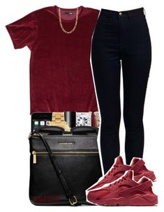 """"""""""" by yeauxbriana ❤ liked on Polyvore featuring MAC Cosmetics, NARS Cosmetics, Michael Kors, Yves Saint Laurent, MICHAEL Michael Kors, NIKE and Fremada"""