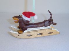 Brown chocolate/tan on a runner sled