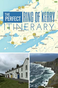 The Perfect Ring of Kerry Itinerary | The Ring of Kerry consists of 179 kilometers of road that forms a circle around the major peninsula in County Kerry in Ireland, containing historical sites, beautiful views of surrounding nature, unique recreational activities, and local crafts shops.