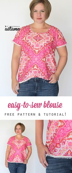 super easy blouse tu