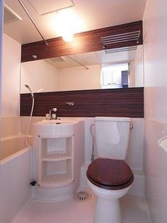 Compact Living, Flat Ideas, Bathroom Toilets, Corner Bathtub, Laundry Room, Diy And Crafts, Interior Decorating, The Unit, Organization