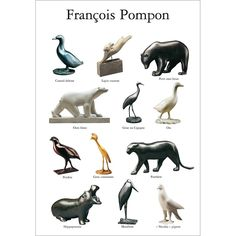 Francois Pompon - a wonderful French sculptor and he was from Bourgogne. Art Sculpture, Animal Sculptures, Art Nouveau, Art Deco, French Sculptor, Ceramic Animals, Illustrations, World Of Warcraft, Beautiful Paintings