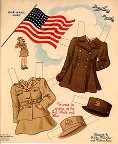 Mary of the Wacs c – Bobe Green – Webová alba Picasa Vintage Paper Dolls, Vintage Toys, Antique Toys, Paper Toys, Paper Crafts, Color Copies, Bobe, Graphics Fairy, Printable Paper