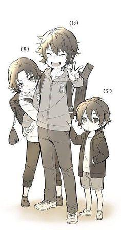 Anime Chibi, Anime Oc, Anime Kawaii, Bebe Anime, Ichigo E Rukia, Anime Siblings, Baby Drawing, Drawing Base, Anime Poses Reference