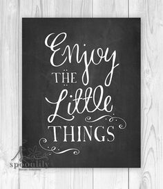 Enjoy the little things Chalkboard Home Decor by SpoonLily on Etsy