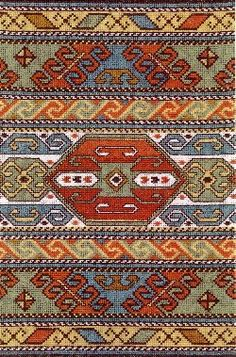 Palestinian Cross Stitch Patterns - Majida Awashreh - Picasa Web Albums - makes a beautiful rug