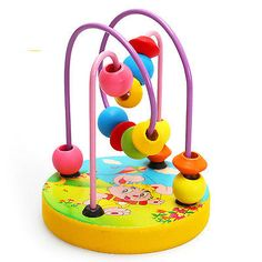 New 1pcs Wooden Children Brain Puzzle Beaded Kids Educational Toys 2-3Y
