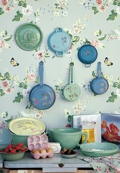 pots and pans with painted bottoms...  designs that inspire to create your perfect home