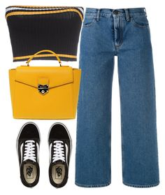 """""""Untitled #4391"""" by maddie1128 ❤ liked on Polyvore featuring Ports 1961, Prada, Vans and POMIKAKI"""
