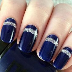 Blues with touch of silver sparkle