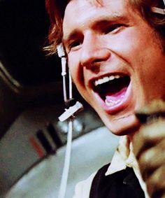 Harrison Ford as Han Solo Star Trek, Star Wars Art, Harrison Ford Han Solo, Han And Leia, Star Wars Episode Iv, Original Trilogy, A New Hope, Love Stars, Long Time Ago