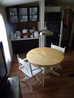 small two seat table for kitchen? instead of an island?