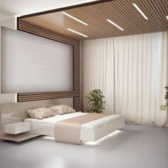 Unique Modern Bedroom Design Ideas for Your Inspiration - Ceiling design Bedroom Furniture Design, Ceiling Design Bedroom, Bed Furniture Design, Bedroom False Ceiling Design, Modern Bedroom Interior, Modern Bedroom, 1 Bedroom Apartment, Bedroom Ceiling, Interior Design Bedroom