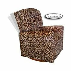 Four Button Rocker Kids Recliner - Upholstery: All Cheetah Fabric 1 of 1