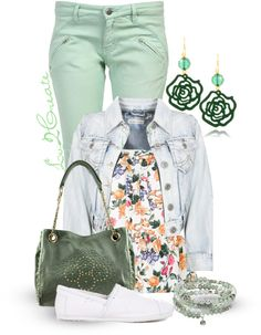 """""""Mint Green Pants #1"""" by lv2create on Polyvore"""