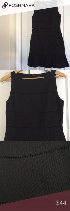 Ann Taylor Dress Very cute like new black sleeveless Ann Taylor Dress in size 6. ❤️ Ann Taylor Dresses Midi