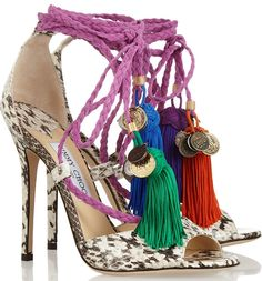 Jimmy Choo 'Dream' tassel-accented sandals