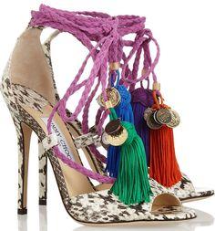 Jimmy Choo 'Dream' tassel-accented sandals