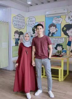 Modest Fashion, Hijab Fashion, Diy Fashion, Casual Hijab Outfit, Hijab Chic, Moslem Fashion, Cute Muslim Couples, Batik Fashion, Batik Dress