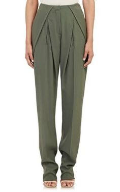 Esteban Cortazar Crepe Trousers at Barneys New York they were interesting until he added the slash pockets only partly hidden behind the pleats...