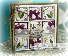 """WORKIN' OUT THE INKS: ANOTHER """"ALL ABOUT EVERYTHING"""" CARD - April 2016 Paper Pumpkin bonus stamp set"""