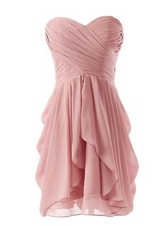 Dressystar Outdoor Chiffon Bridesmaid Dress Short Homecoming Dance Gown at Amazon Women's Clothing store: