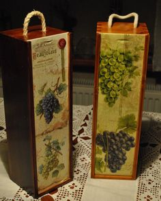 Skrzynka na wino decoupage - Αναζήτηση Google Decoupage Box, Decoupage Vintage, Wine Gift Boxes, Gifts For Wine Lovers, Wood Boxes, Keepsake Boxes, Box Art, Anniversary Gifts, Wood Projects