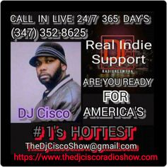 """""""The Morning Show"""" with DJ Cisco  Indie Artist Music, Hip Hop & Celebrity News, Live Shout Outs and the """"World Famous Facebook Birthday Shout outs"""" at 10:30 Am Est.  Call in live at (347) 352-8625  Main Site: www.thedjciscoradioshow.com  Also catch The DJ Cisco Radio Network LLC on Tunein for easy connection at  https://beta.tunein.com/radio/The-DJ-Cisco-Radio-Show-s261467/  #TheMorningShowwithDJCisco #DJCisco #TheDJCiscoRadioNetworkLLC #HipHopNews #Livenation #Rocnation #XXLMagazine…"""