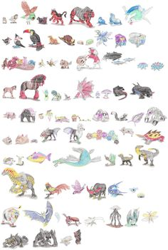 Pokemon by DragonlordRynn on DeviantArt Pokemon Names, Pokemon Alola, Pokemon Fan Art, Cute Pokemon, Pokemon Na Vida Real, Pokemon In Real Life, Pokemon Sketch, Pokemon Champions, Extinct Animals