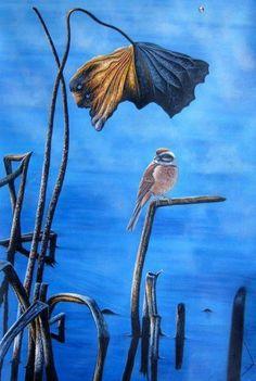 Pintura Moderna al Óleo: Cuadros de pájaros al óleo