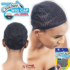 Freetress Synthetic Crochet Wig Cap With Combs - Color BLACK