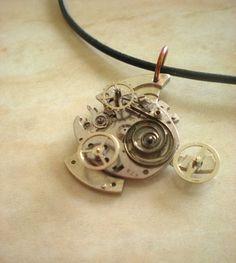 Mechanical Fish Necklace: Steampunk Jewelry - Clockwork Necklace - Unique Jewelry - Clockwork Jewelry - Upcycled Jewelry - Steampunk Fashion. $50.00, via Etsy.