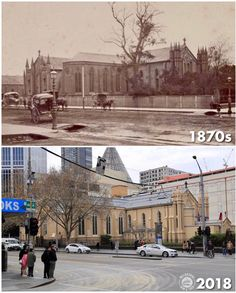 St Francis church, corner of Lonsdale and Latrobe street. Melbourne Victoria, Victoria Australia, Melbourne Suburbs, Then And Now Photos, Australian Continent, Largest Countries, St Francis, Melbourne Australia, Historic Homes