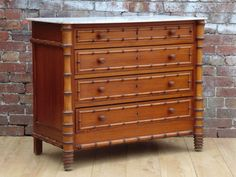 French Antique Faux Bamboo Commode