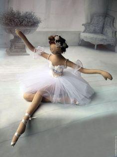Rag doll ballerina doll, fabric doll pink blonde and brunet Pretty Dolls, Cute Dolls, Beautiful Dolls, Dancing Dolls, Doll Clothes Patterns, Doll Patterns, Long White Hair, Ballerina Doll, New Dolls