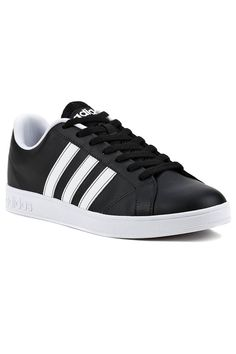 9be4642dfe5 Tênis Casual Masculino Adidas Advantage Vs Preto branco