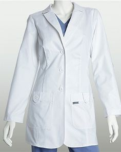 Black Friday Grey's Anatomy 7446 Missy 2 Pkt White Lab Coat w/ Back Tab Medium from Barco Uniforms Cyber Monday Long White Coat, White Lab Coat, Greys Anatomy Halloween Costumes, Grey's Anatomy Lab Coat, Lab Coats, Women's Coats, Greys Anatomy Scrubs, Medical Scrubs, Coats For Women