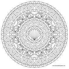 ☮ American Hippie Art ~ Coloring Pages .. Mandala