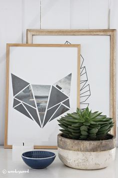 DIY: geometric kids room art