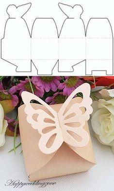 beautiful DIY candy gift box patterns - Home Decor Ideas Candy Gift Box, Diy Gift Box, Paper Gift Box, Candy Gifts, Diy Box, Paper Gifts, Gift Boxes, Origami Gift Box, Origami Art