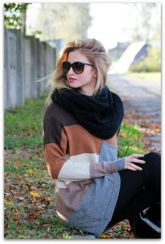 Maybe with a brown scarf