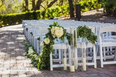 Love this ceremony aisle garland and candles. Beautiful Couple, Big And Beautiful, Flowers For You, Grand Entrance, Reception Areas, San Diego Wedding, Floral Crown, Image Photography, Timeless Design