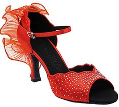Very Fine Shoes Salsera Series SERA7014 25 Heel Ballroom Shoes -- Continue to the product at the image link.
