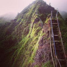 The Haikū Stairs, also known as the Stairway to Heaven or Haikū Ladder, is a steep hiking trail on the island of Oahu.