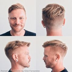 Shaved sides for the win! Dapper Haircut by Glen Fernandez.