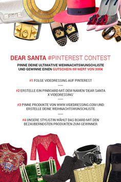 Pinne Deine ultimative Weihnachtwunschliste und gewinne einen Gutschein im Wert von 300€! #Videdressing #Gewinnspiel