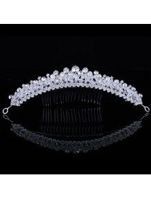 Gorgeous Alloy with Zircons and Rhinestiones Bridal Headpiece