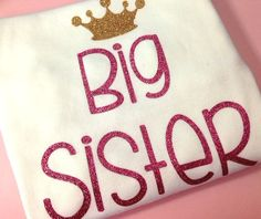 Big Sister shirt onesie bodysuit big sis baby girl by babyfables