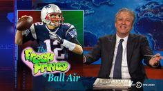 Jon Stewart sacks 'cheating f--k' Tom Brady over the DeflateGate fiasco.