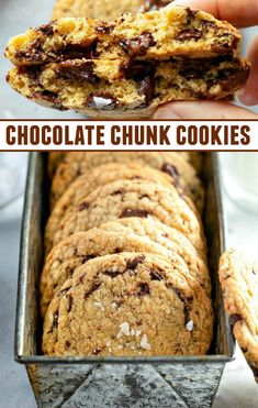These Chocolate Chunk Cookies are thick, buttery, loaded with chocolate chunks and topped with a sprinkle of sea salt to create your new favorite cookie recipe! Chocolate Chunk Cookies are essentially the best Chocolate Chip Dessert Chocolate, Chocolate Chunk Cookies, Best Chocolate, Favorite Cookie Recipe, Favorite Recipes, Chef Recipes, Cookie Recipes, No Bake Cookies, Chip Cookies